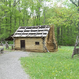 1770s Recreated Settler's Log Cabin by Crystal Bailey - Buildings & Architecture Public & Historical