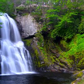 Bushkill Falls by Rob Kovacs - Landscapes Waterscapes