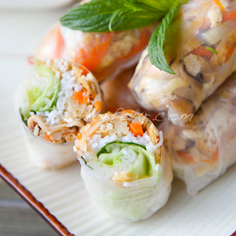 Gỏi Cuốn Chay – Vietnamese Vegetarian Rice Paper Rolls