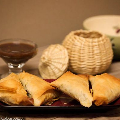 Ethiopian Sambussa -- Healthy Baked Cousins Of Samosas With Phyllo Dough!
