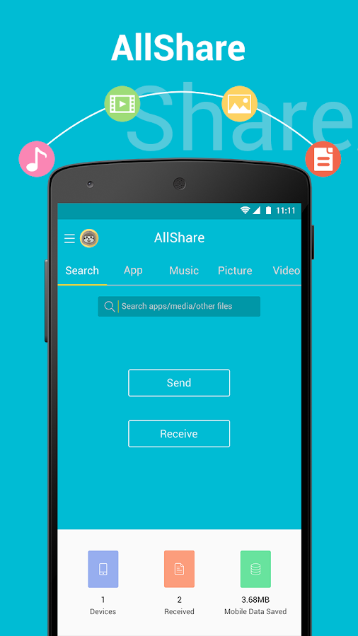 All Share - Apps&File Transfer Screenshot 0