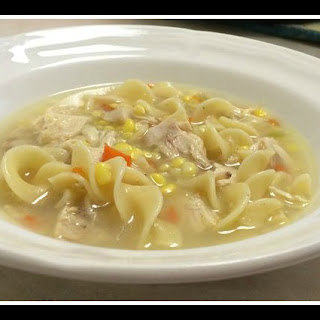Homemade Chicken Noodle Corn Soup