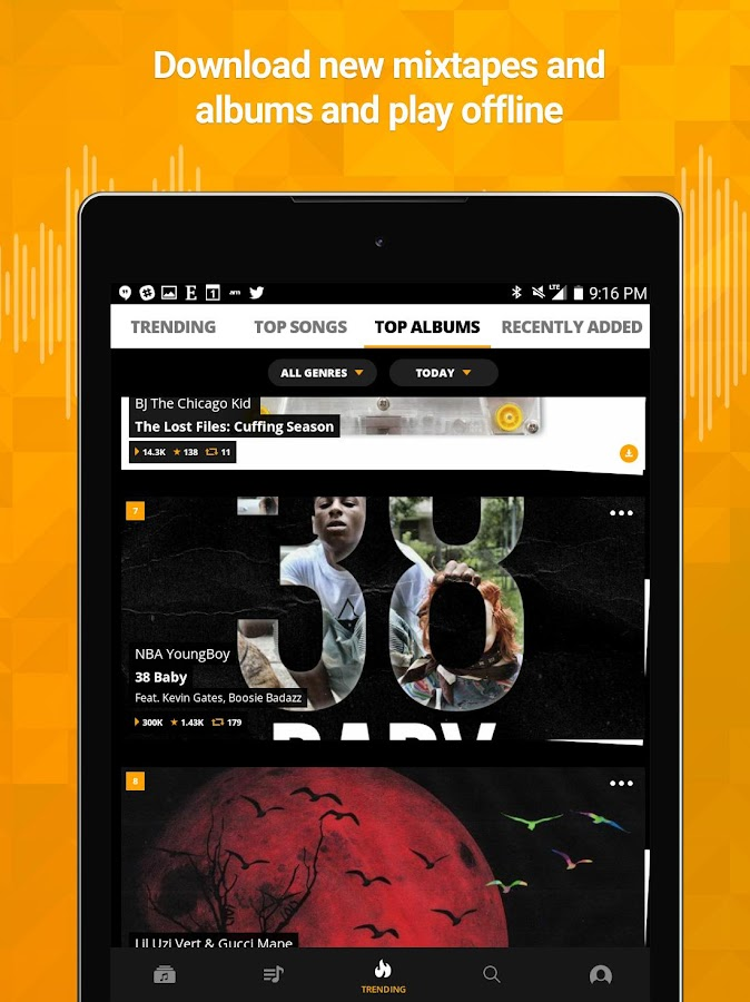 Audiomack Mixtapes & Music App Screenshot 8