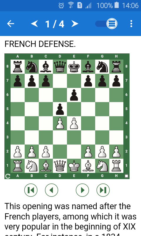Chess Tactics in French Def Screenshot 0