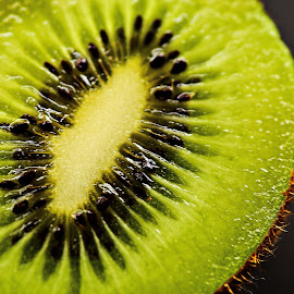 Kiwi Half by Prasanta Das - Food & Drink Fruits & Vegetables ( kiwi, half, close up )