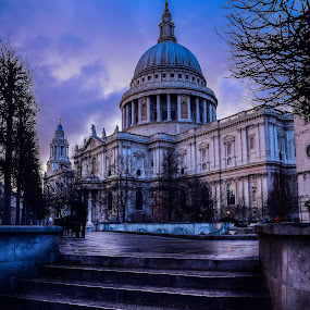 St Paul's Cathedral by Balan Gratian - City,  Street & Park  Street Scenes ( london church, cathedral, london cathedral, big cathedral, st paul's cathedral )