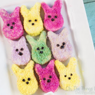 Naturally Colored Homemade Marshmallow Peeps