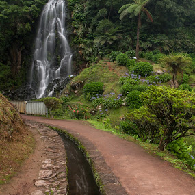 A Beautiful Waterfall by Rui Medeiros - Landscapes Waterscapes ( water, nature, waterscape, waterfall, azores,  )