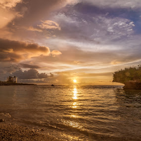 Cabras Island Sunset by Joshua T. Wood - Landscapes Sunsets & Sunrises ( piti, canbra island, guam, sunset )