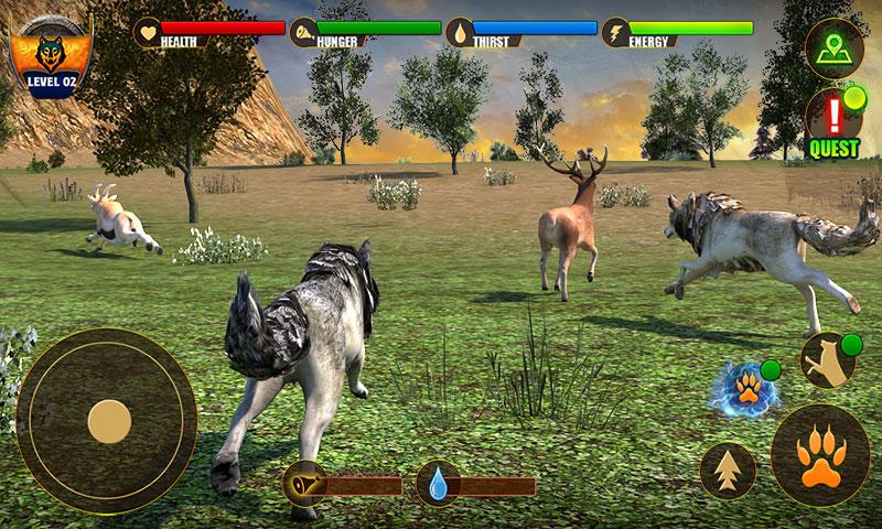 Wolf Life Simulation 2017 Screenshot 3