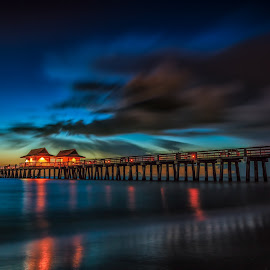 by Yaroslav Sobko - Landscapes Waterscapes ( lights, sky, pier )
