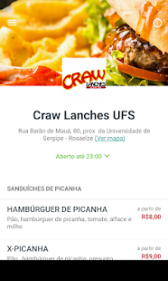 Craw Lanches Delivery - screenshot