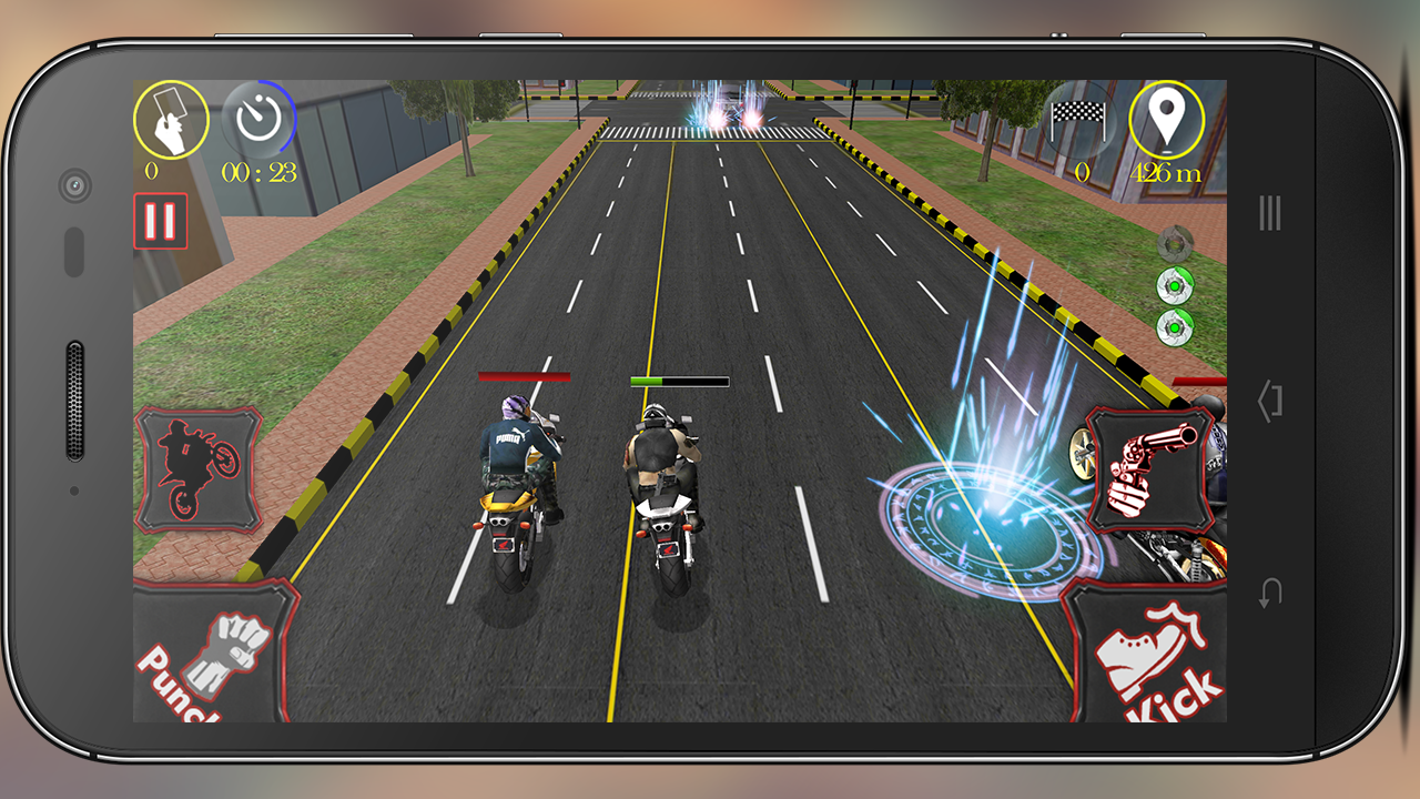 Bike Race Fighter (PRO) No Ads Screenshot 1