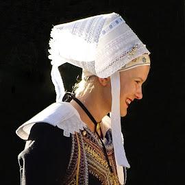 Bretonne, France by Ramade Genevieve - People Portraits of Women