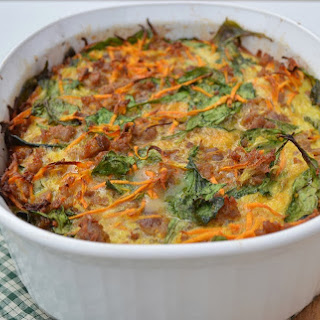 Paleo Sausage and Sweet Potato Breakfast Casserole