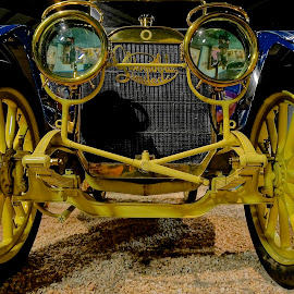 Face to Face by Barbara Brock - Transportation Automobiles ( classic car, old car, yellow automobile, antique car )