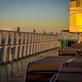 Gem Early Morning by Chris Mowers - Transportation Boats ( ship, cruise ship, atlantic, morning, norwegian gem )