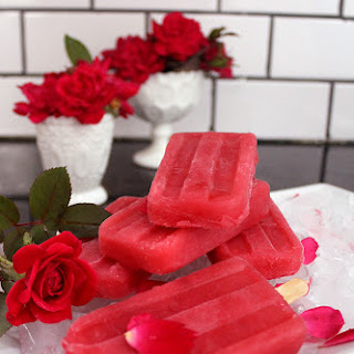 Raspberry Rosewater Ice-Pops