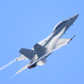FA-18 by Jon Mercer - Transportation Airplanes ( airplane, jet, fighter, fa-18, airshow )