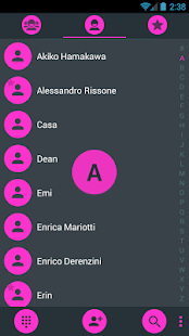 Dialer theme Droid L Pink - screenshot