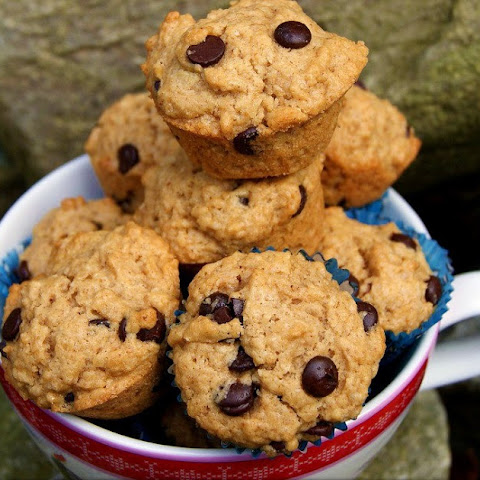 Mini Peanut Butter and Chocolate Chip Muffins