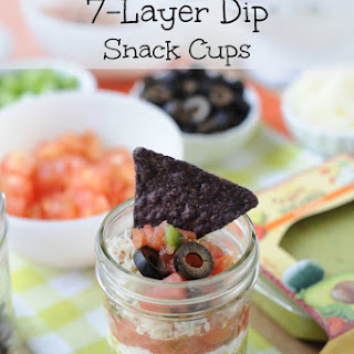 7 Layer Mexican Dip Snack Cups