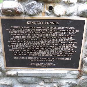 See: https://oaklandwiki.org/Kennedy_Tunnel