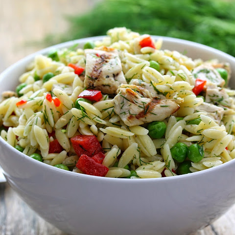 Lemon-Dill Chicken and Orzo Pasta Salad