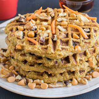 Butterscotch Carrot Millet Waffles