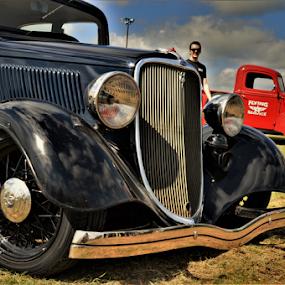 Spoke Roller by Benito Flores Jr - Transportation Automobiles ( austin, texas, car show, spokes )