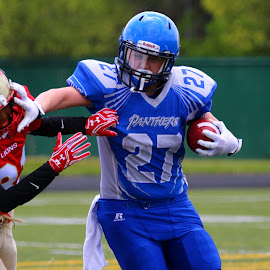 stiff arm by Patrick Cloutier - Sports & Fitness American and Canadian football