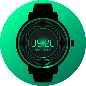 Digital Glow Watch Face
