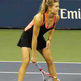 Eugenie Bouchard at US Open by Anu Sehgal - Sports & Fitness Tennis