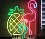 Neon Light Of Flamingo Pineapple Coucan Cactus Rainbow