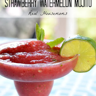 Frozen Strawberry Watermelon Mojito