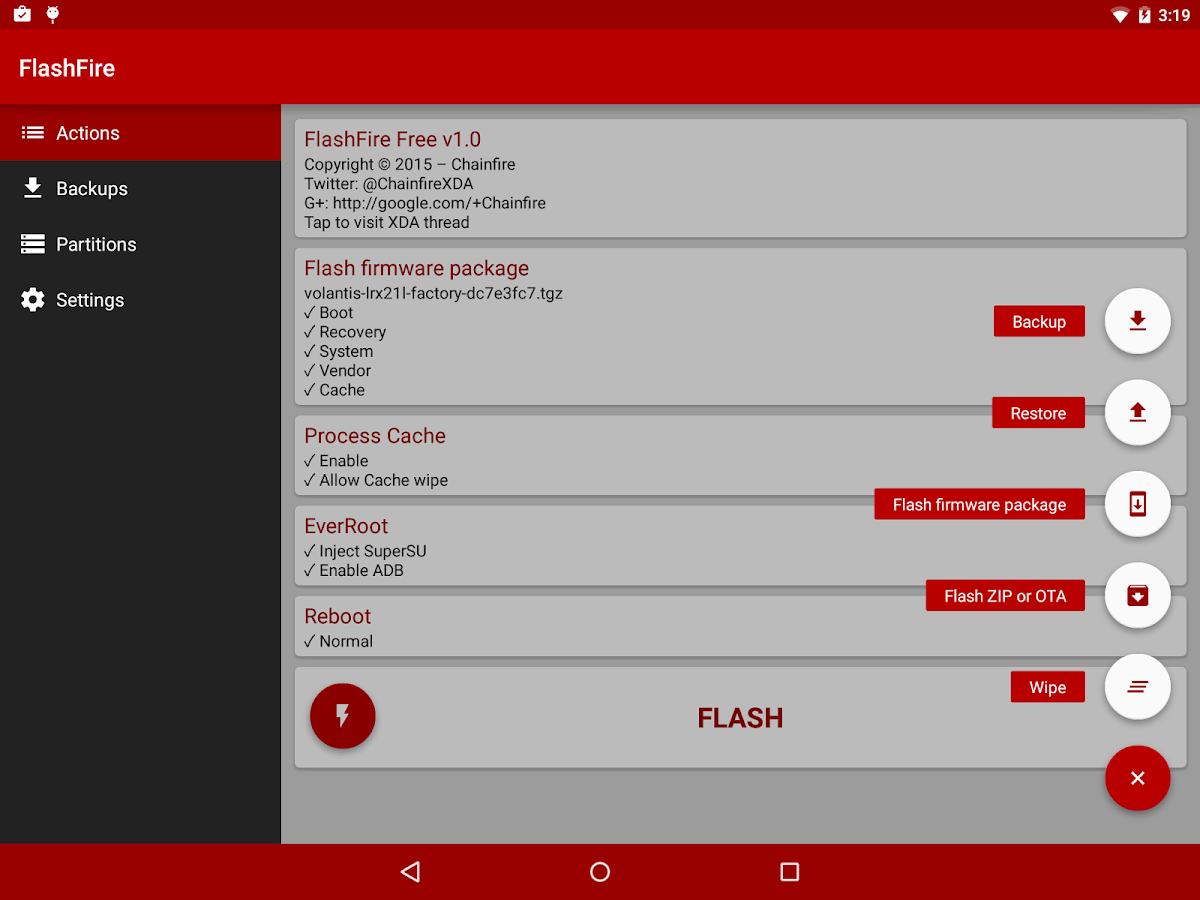 [root] FlashFire Screenshot 3