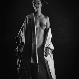 Afro Samurai by Peter DuChene - Nudes & Boudoir Artistic Nude ( breast, warrior, sexy, nude, female, naked, samurai, ronin, sword, sensual )
