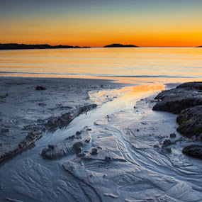 Sunset at Aakrasand #7 by Thomas Sjøen - Landscapes Sunsets & Sunrises ( sunset, beach, åkrehamn, coast, norway )