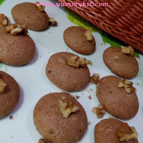 Cocoa Walnut Cookies for Kids