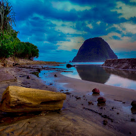 Red beach by Charles Mawa - Landscapes Beaches ( mountain, cold, wood, charlesmawa, lanscape, beach )