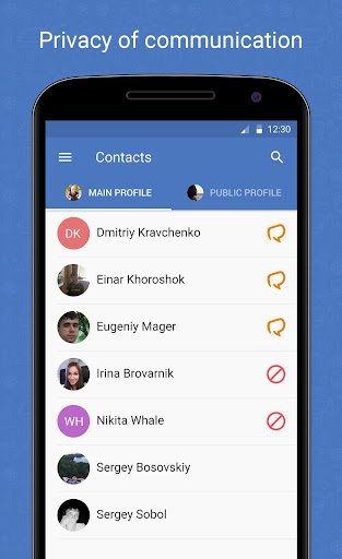Radius Messenger - screenshot