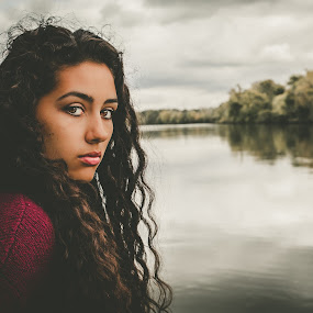Calm by Todd Wallarab - People Portraits of Women ( calm, sexy, girl, woman, pretty, river )