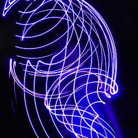 Intricate by Savannah Eubanks - Abstract Light Painting ( purple, woman, light )