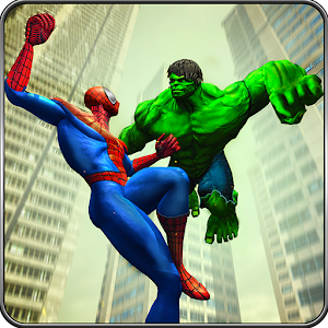 Incredible Monster vs Super Spiderhero City Battle Online PC (Windows / MAC)
