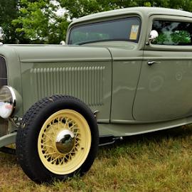 Yellow Spokes by Benito Flores Jr - Transportation Automobiles ( car, austin, texas, car show, street rod )