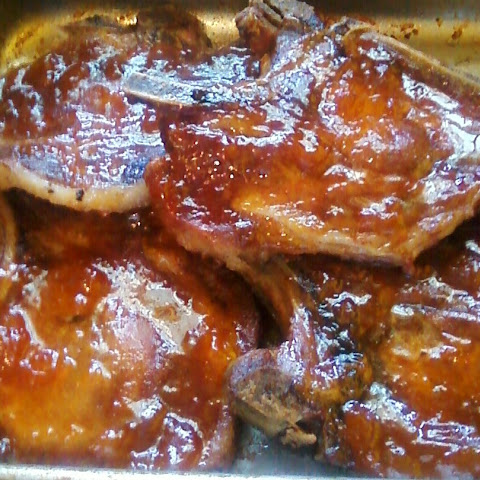 Baked Pork Chops with Apricot Preserves