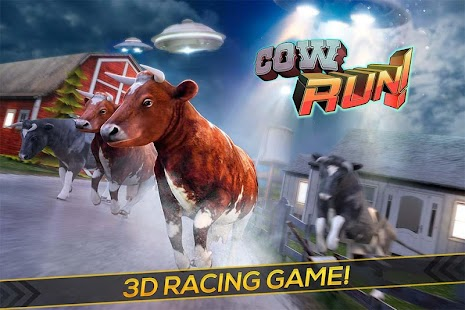 Cow Run! - UFO Farm FREE - screenshot