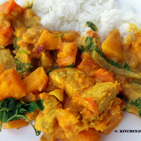 Sweet potato Pork Curry