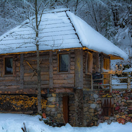 Romantic cottage by Bojan Kuburovic - Buildings & Architecture Homes ( montenegro, building, winter, wooden, nature, wood, hut, magical, cottage, snow, romantic, woods )