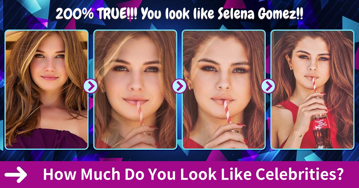 Celebrity Quiz - What Celebrity Do I Look Like? - Question ...